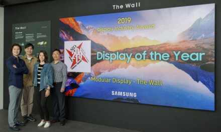 """""""The Wall"""" by Samsung Wins Coveted Display Industry Award Job"""