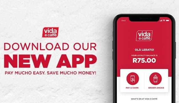 vida e caffè's New App offers Mucho Benefits