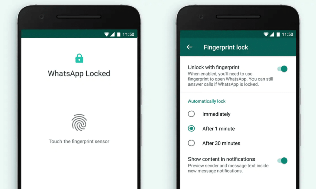 WhatsApp for Android Finally Receives Fingerprint Lock Feature