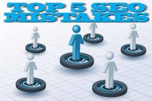 SEO strategy, 5 mistakes