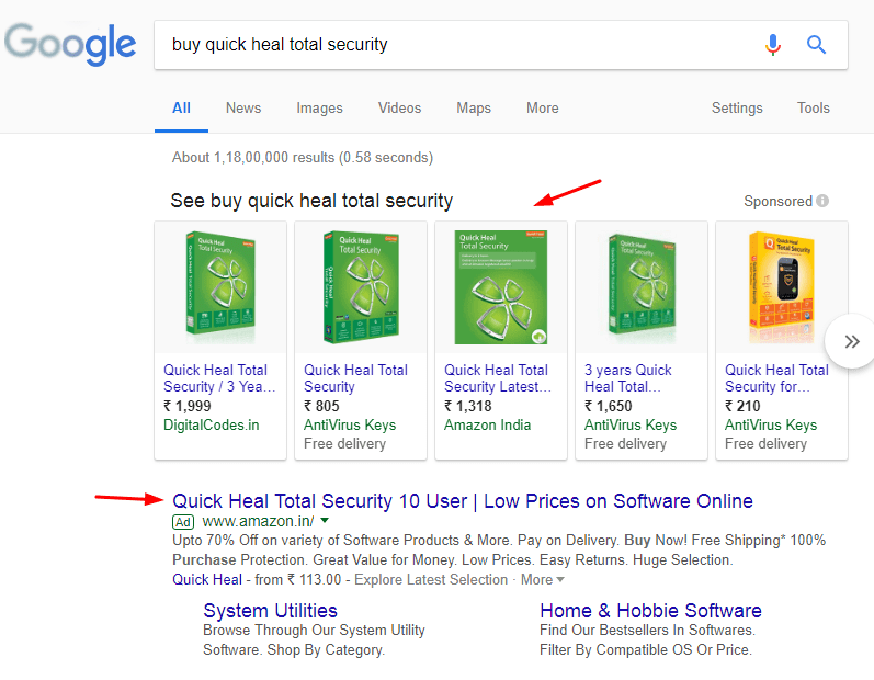 google-advertising-search-results