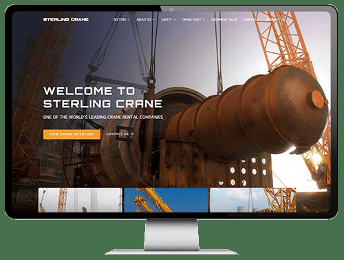 Website design for Sterling Crane Canada