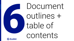 Document outlines + table of contents
