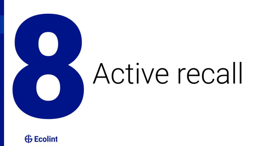 Active recall