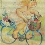 Disktrasa med motiv av Kalsapinglan Birgitta Linderholm
