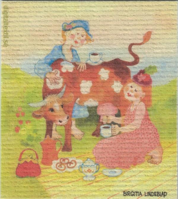 Disktrasa med motiv av Kaffe latte Birgitta Linderholm
