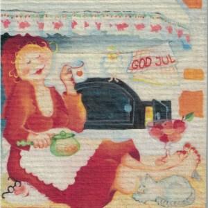 Disktrasa med motiv av Spiselvrån Birgitta Linderholm