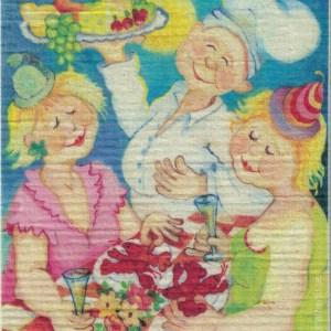 Disktrasa med motiv av Kräftkalas Birgitta Linderholm