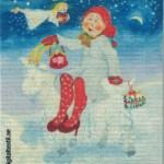Disktrasa med motiv av Julbocken Birgitta Linderholm