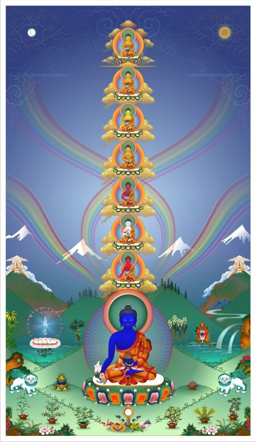 Eight Medicine Buddhas Tower (13th Dalai Lama)