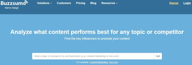 BuzzSumo - best tool for content marketing and seo campaigns