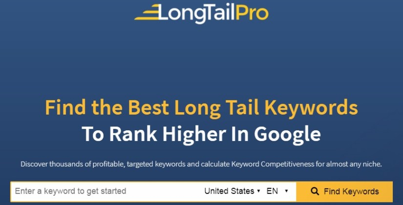 LongTailPro - keyword search tool for long tail keywords