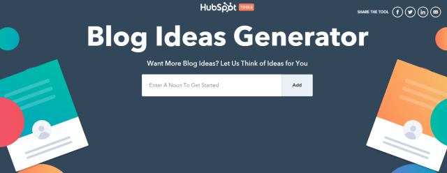 HubSpot blog ideas generator