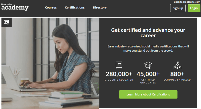 Social marketing training - Hootsuite academy