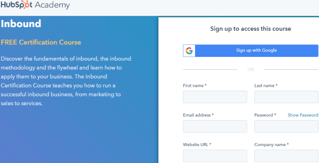 Inbound Digital Marketing Course - HubSpot Academy