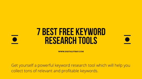 7 Best Free Keyword Research Tools