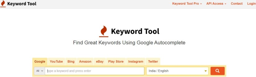 Keywordtool.io: Free Keyword Research Tool