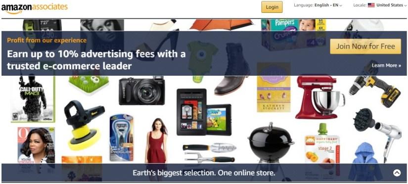 Inscrivez-vous maintenant gratuitement: Amazon Associates