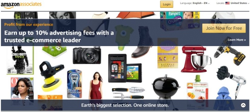 Join Now For Free: Amazon Associates