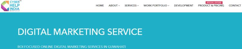 Cyber Help India: Digital Marketing Service in Guwahati