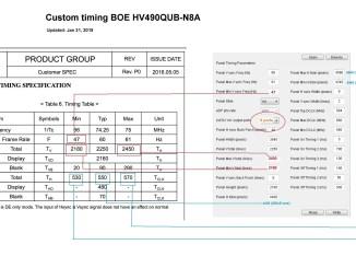 Custom timing BOE HV490QUB-N8A