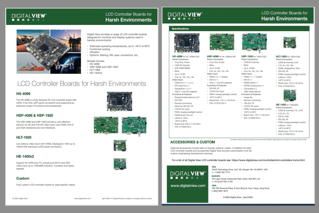 Digital View harsh environment controller boards
