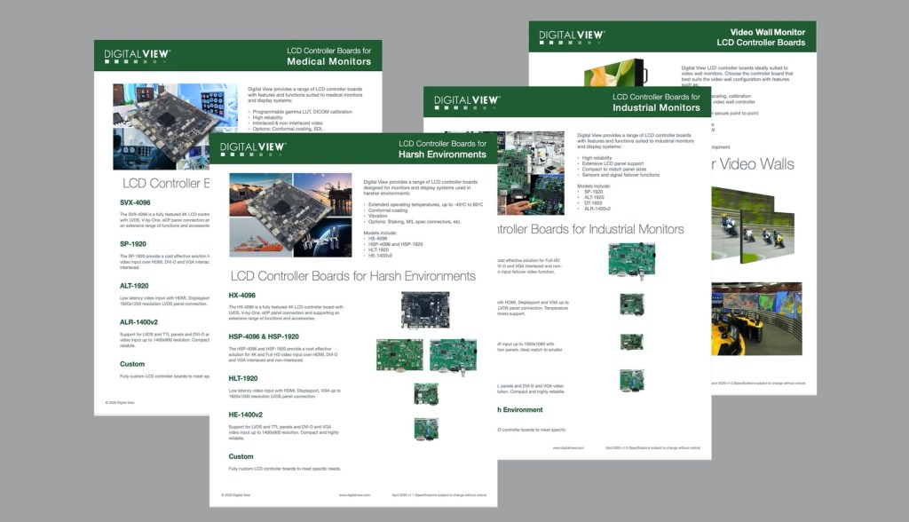 digital view controller applications brochures