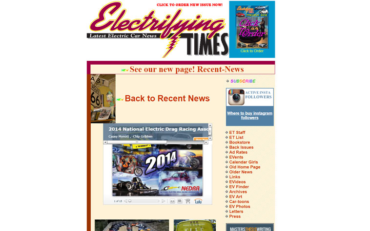 electrifyingtimes.com screenshot