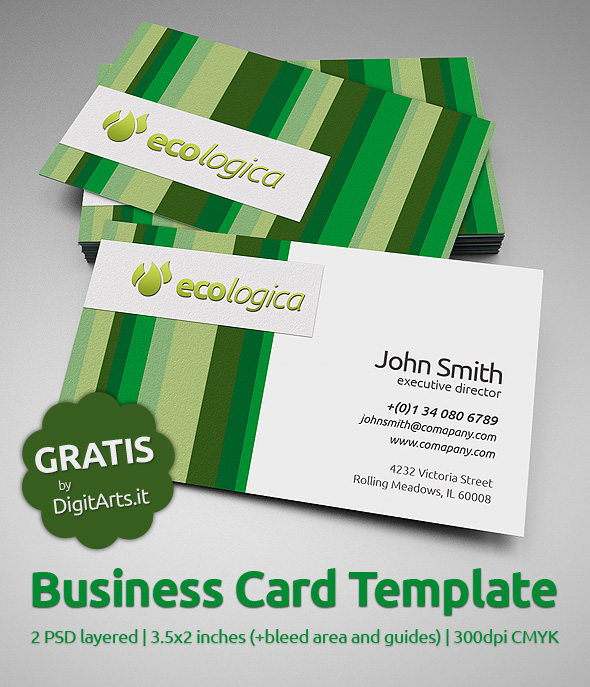 ecologica business card template