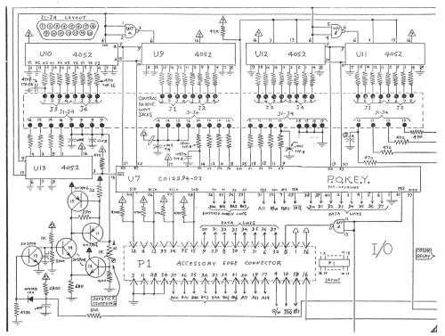 small resolution of atari 5200 i o schematic