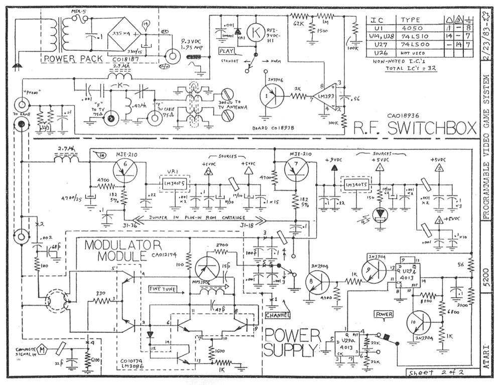 medium resolution of atari 5200 rf switchbox schematic