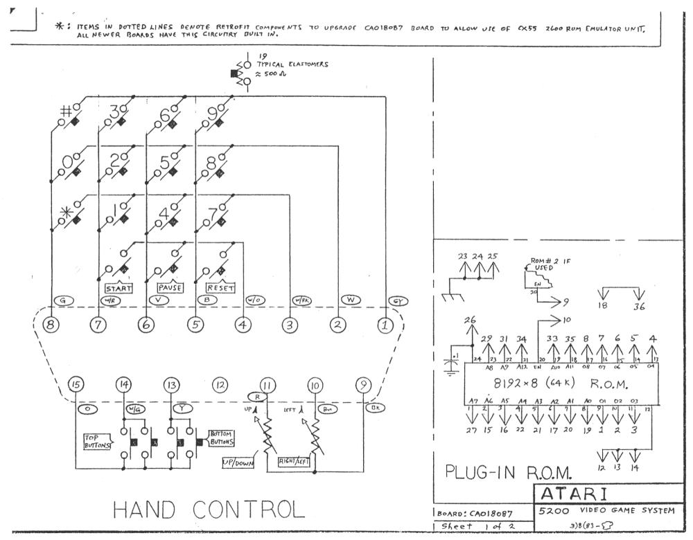 medium resolution of atari 5200 accessories schematic