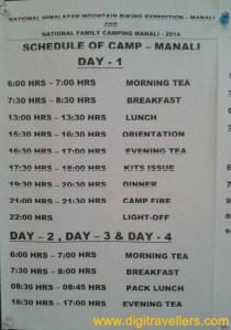 YHAI Time Table