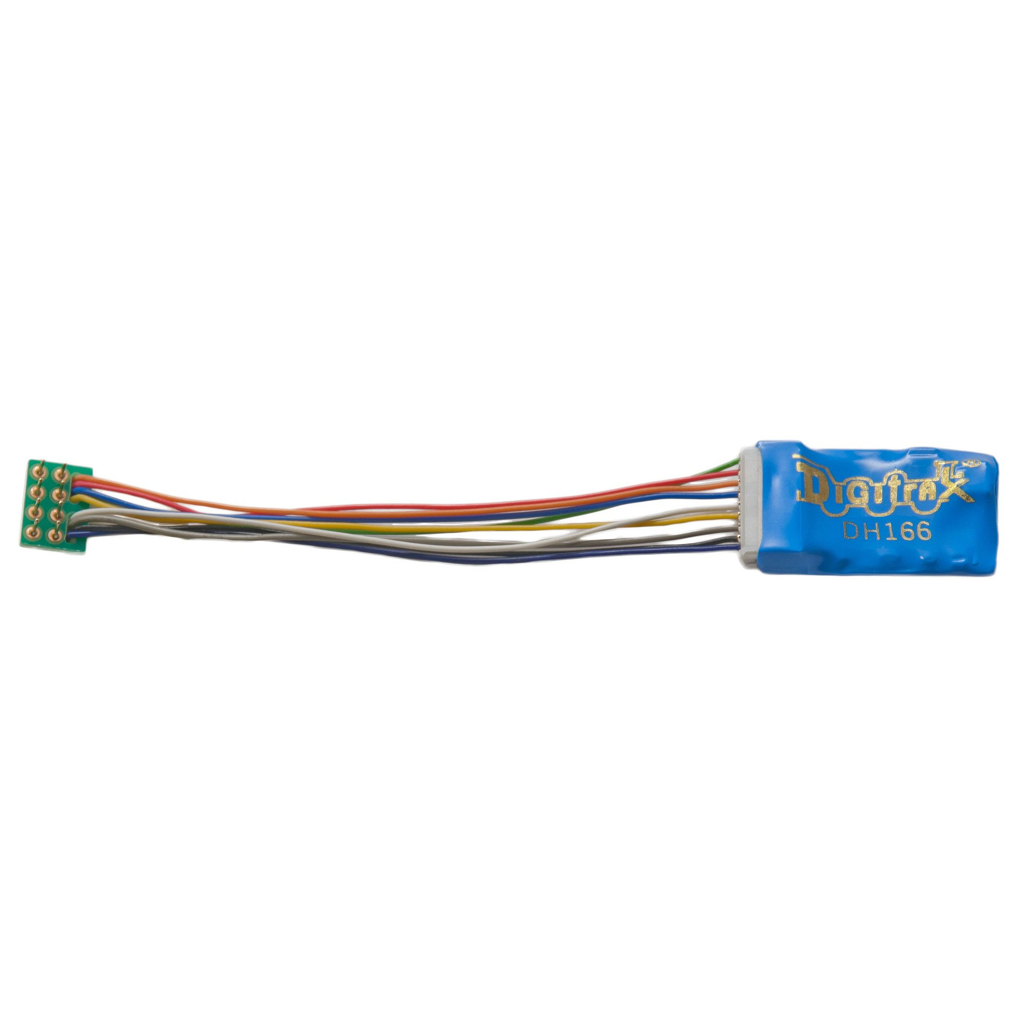 hight resolution of dh166p 1 5 amp premium ho scale decoder with digitrax easy connect 9 pin to dcc medium plug 3 0 harness