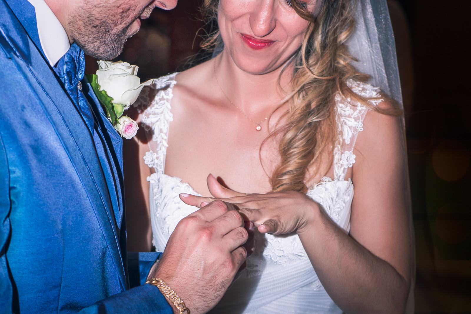 mariage, couple, portrait, bague