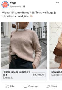 yaga, facebook reklaam, fb ad