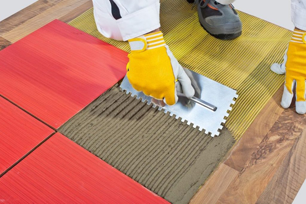 how to tile on a wooden floor
