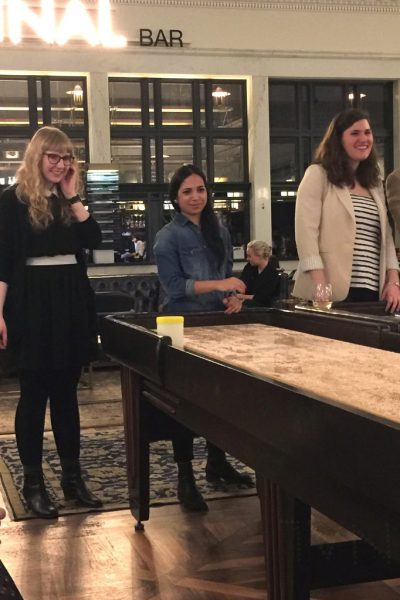 A fierce shuffleboard competition during VREPS Night Out.