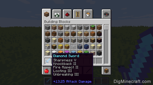 Use Command Block To Give An Enchanted Diamond Sword