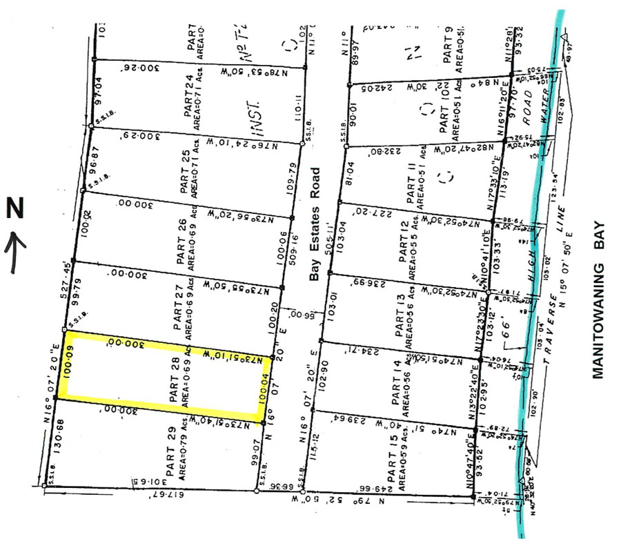 Surveyed Building Lot for Sale in Manitoulin Island
