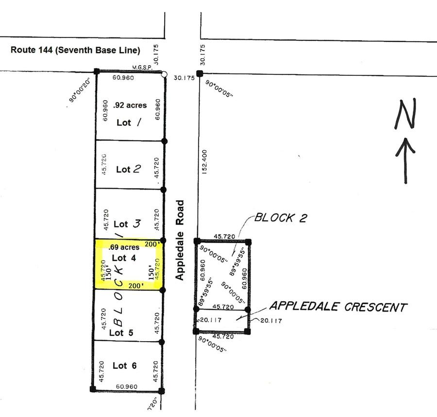 Lot for Sale in Mennville Manitoba .69 acres