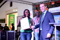Lady Wins The Huawei Ascend P6