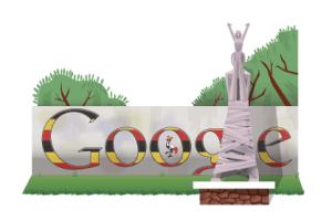 uganda independence doodle 2011