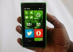 Lumia 435 on the hands
