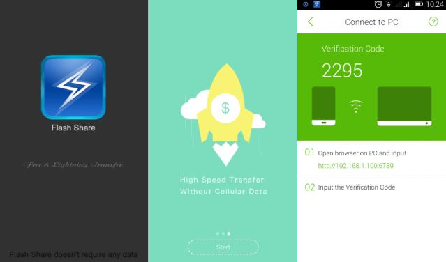 flashshare android app