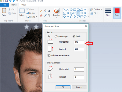 How to merge two photos in paint windows 8