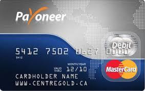 payoneer mastercard debit card
