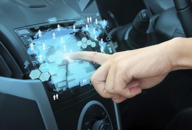 high tech card dashboard