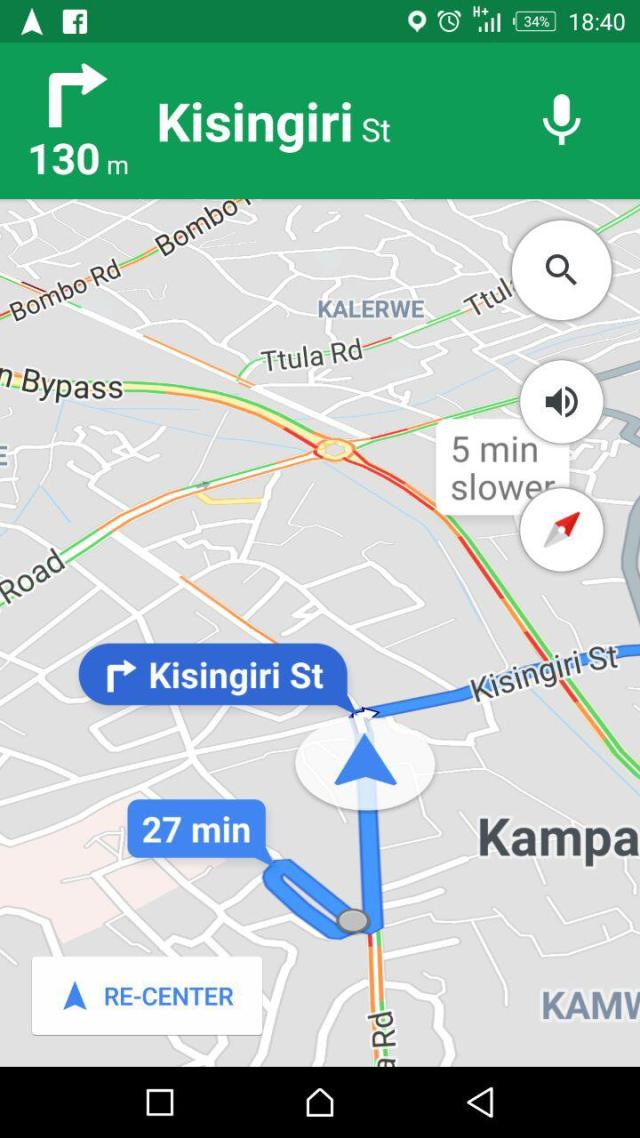 Google Maps Navigation Now Shows Live Traffic Updates For Kampala