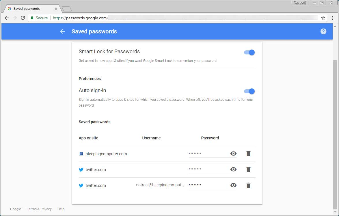 How to use Google Chrome Browser Password Management feature - Dignited